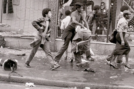 Brixton riots 10 April 1981, England (detail)